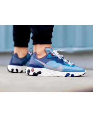 CU1466-400 Nike React Element 55 Heren - Blauw/Cerulean-Groen-Wit