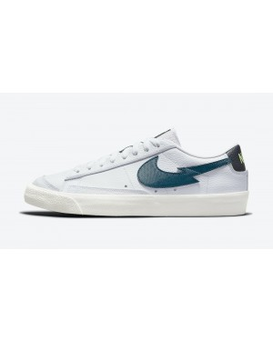 "DJ6895-100 Nike Blazer Low '77 ""Aquamarine"" - Wit/Aquamarine-Lime Glow"