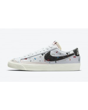 "DJ1517-100 Nike Blazer Low ""Paint Splatter"" - Wit/Zwart-Sail"