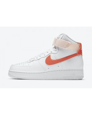 334031-118 Nike Dames Air Force 1 High - Wit/Oranje-Oranje