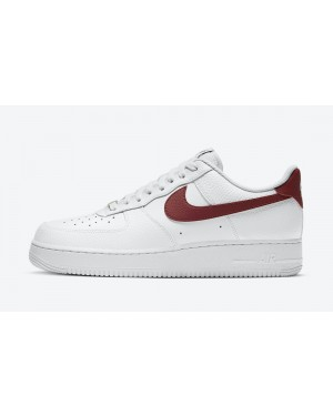 CZ0326-100 Nike Air Force 1 Low Schoenen - Wit/Rood