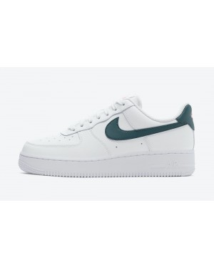 315115-163 Nike Dames Air Force 1 Low - Wit/Donkere Wintertaling Groen-Sunset Pulse-Wit