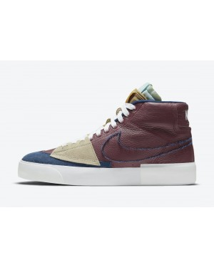 DA2189-600 Nike SB Blazer Mid Edge - Rood/Light Dew-Wit-Navy