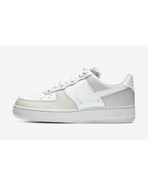 "DC1165-001 Nike Dames Air Force 1 Low ""Fur Tongue"" - Light Bone/Photon Dust-Life Lime"