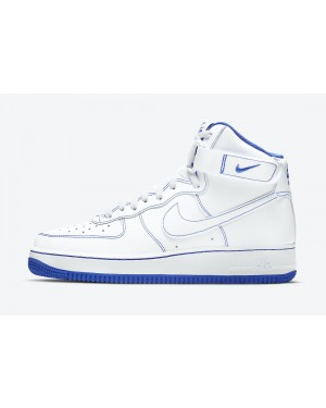 CV1753-101 Nike Air Force 1 High Schoenen - Wit/Blauw