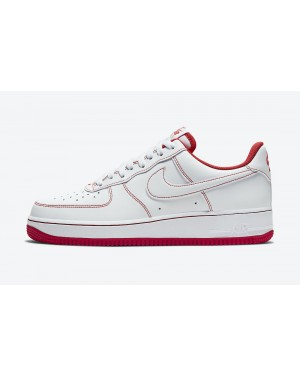 CV1724-100 Nike Heren Air Force 1 Low - Wit/Wit-Rood