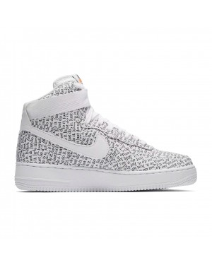 AO5138-100 Nike Dames Air Force 1 Hi LX Schoenen - Wit/Wit/Zwart