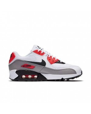 325213-132 Nike Dames Air Max 90 - Wit/Dust/Rood/Zwart