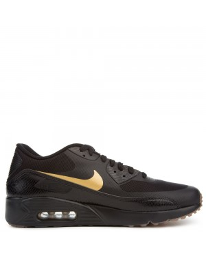875695-016 Nike Air Max 90 Ultra 2.0 Essential - Zwart/Metallic Goud/Bruin