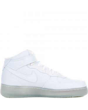 804609-102 Nike AIR FORCE 1 MID '07 LV8 - Wit/Metallic Silver