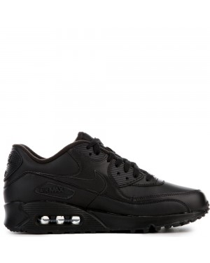 302519-001 Nike AIR MAX 90 LEATHER Schoenen - Zwart/Zwart