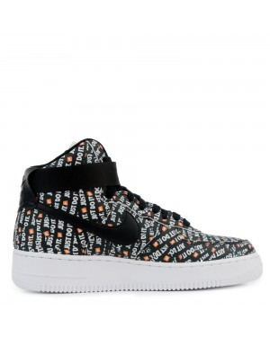AO5138-001 Dames Nike Air Force 1 Hi LX - Zwart/Wit-Oranje