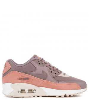 325213-611 Dames Nike AIR MAX 90 - Rood/Grijs/Wit