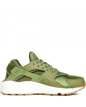683818-300 Dames Air Huarache Run PRM - Groen/Groen-Sail