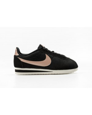 Nike Dames Classic Cortez Leather Lux Zwart/Bronze Rood Bronze-Sail 861660-002