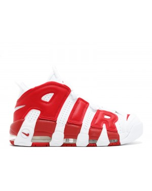 Nike Pippen Air More Uptempo Wit/Rood 414962-100