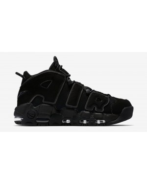 Nike Air More Uptempo Triple Zwart | 414962-004