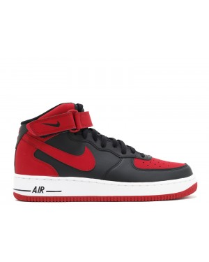 Nike Air Force 1 Mid 07 (Zwart/Rood/Wit) - Heren 315123 029