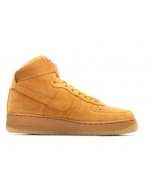 807617-701 Nike Air Force 1 High Lv8 GS - Wheat/Wheat-Bruin