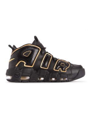 AV3810-001 Nike Air More Uptempo 96 Qs Schoenen - Zwart/Metallic Gold
