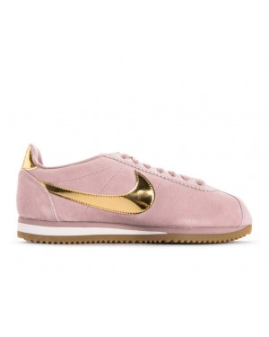 902856-204 Nike Dames Classic Cortez SE - Diffused Taupe/Metallic Gold-Phantom
