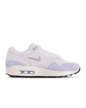 AA0512-004 Nike Dames Air Max 1 Premium SC - Pure Platinum/Metallic Platinum-Royal Tint