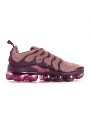 AO4550-200 Nike Dames Air Vapormax Plus - Smokey Mauve/Bordeaux-Vintage Wine-Zwart