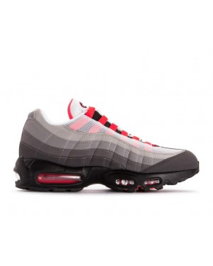 AT2865-100 Nike Air Max 95 Og Schoenen - Wit/Rood-Granite Dust