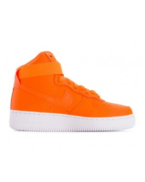 BQ7925-800 Nike Dames Air Force 1 High LX Leather JDI - Oranje/Wit