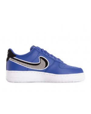 823511-409 Nike Air Force 1 07 Lv8 Schoenen - Game Royal/Grijs-Zwart-Wit