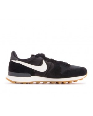 828407-021 Nike Dames Internationalist - Zwart/Wit-Anthracite-Sail