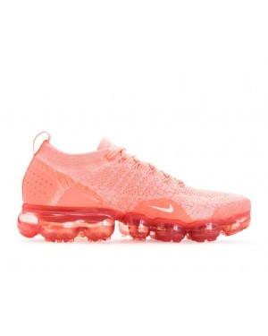 942843-800 Nike Dames Air Vapormax Flyknit 2 - Crimson Pulse/Sail/Coral Stardust
