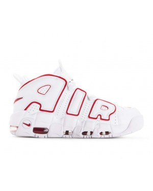 921948-102 Nike Air More Uptempo 96 Schoenen - Wit/Rood/Wit