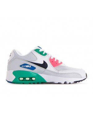 833418-112 Nike Air Max 90 Mesh Schoenen - Wit/Obsidian/Pure Platinum