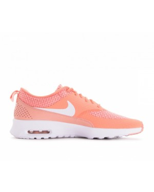 616723-605 Nike Dames Air Max Thea Premium - Crimson Bliss/Wit/Coral Stardust