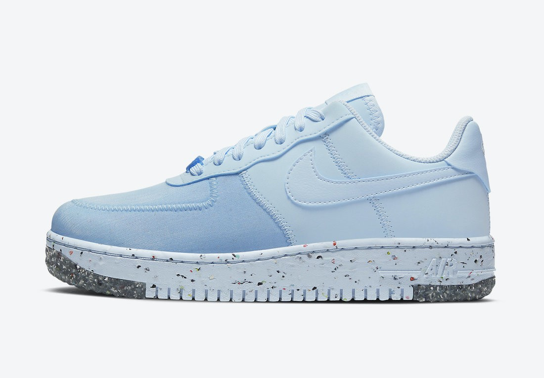 CT1986-400 Nike Dames Air Force 1 Crater Foam Schoenen - Blauw/Blauw