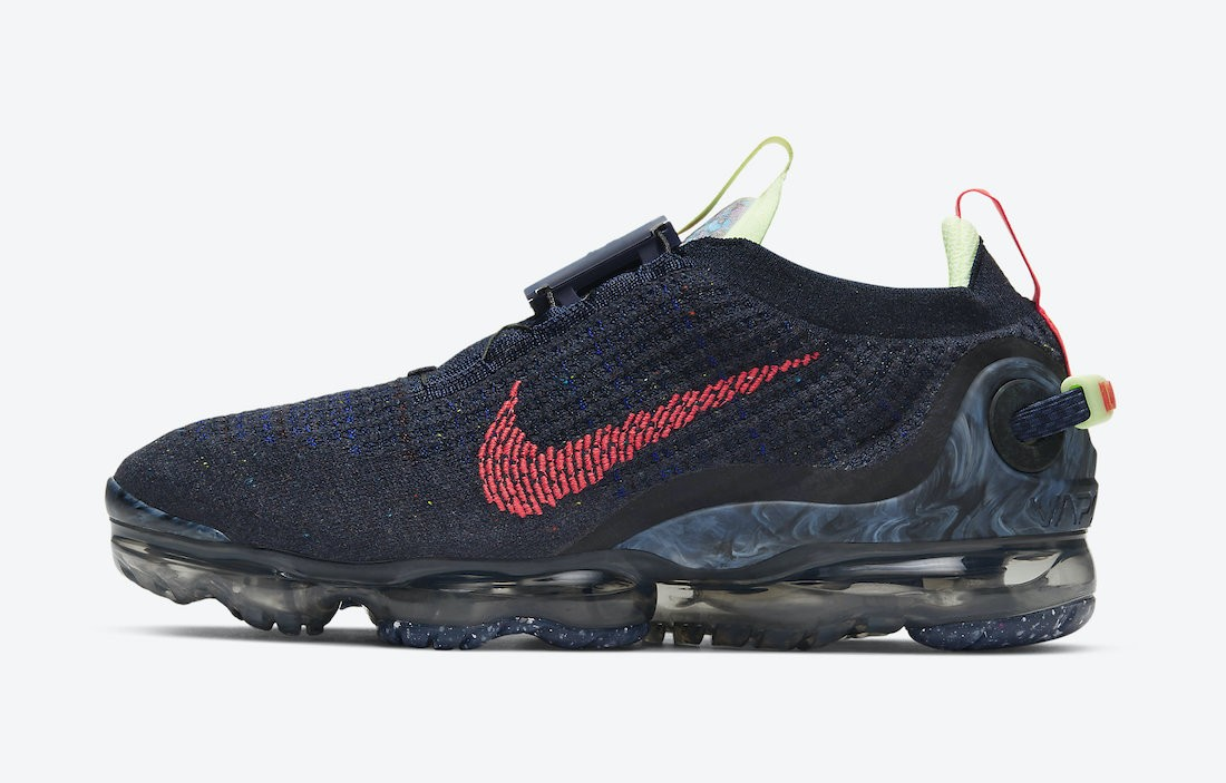 CW1765-400 Nike Air VaporMax 2020 - Obsidian/Rood-Barely Volt