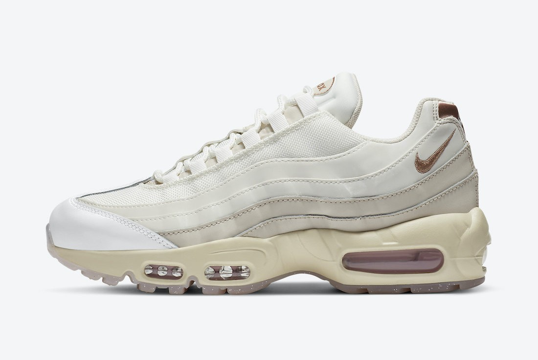 CT1897-100 Nike Dames Air Max 95 - Mountain Wit/Light Redwood Bruin