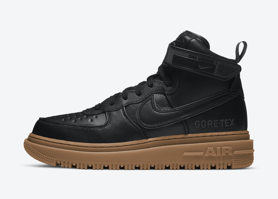 CT2815-001 Nike Air Force 1 Gore-Tex Boot Heren - Zwart/Anthracite-Bruin