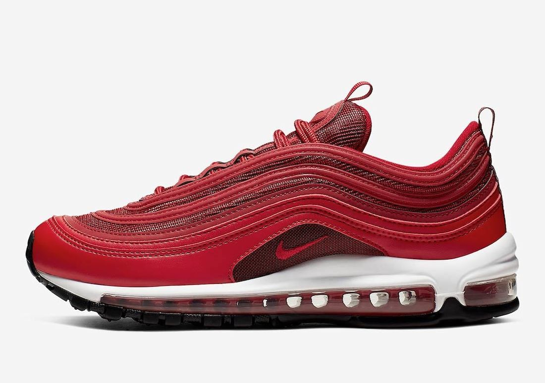 CQ9896-600 Nike Dames Air Max 97 - Rood/Zwart-Wit-Rood