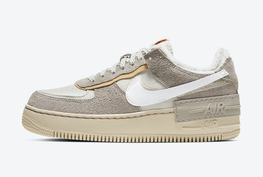 "DC5270-016 Nike Dames Air Force 1 Shadow ""Wild"" - Wit/Light Bone"