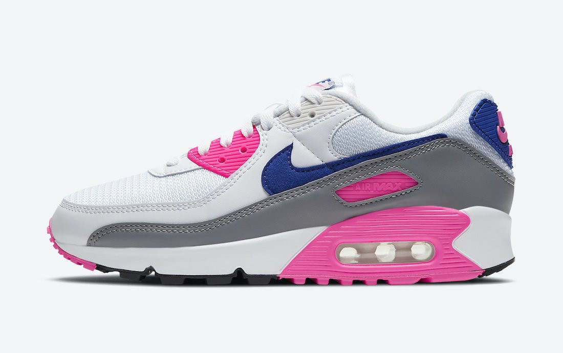 """CT1887-100 Nike Air Max 90 Dames """"Concord"""" - Wit/Grijs-Concord-Roze"""