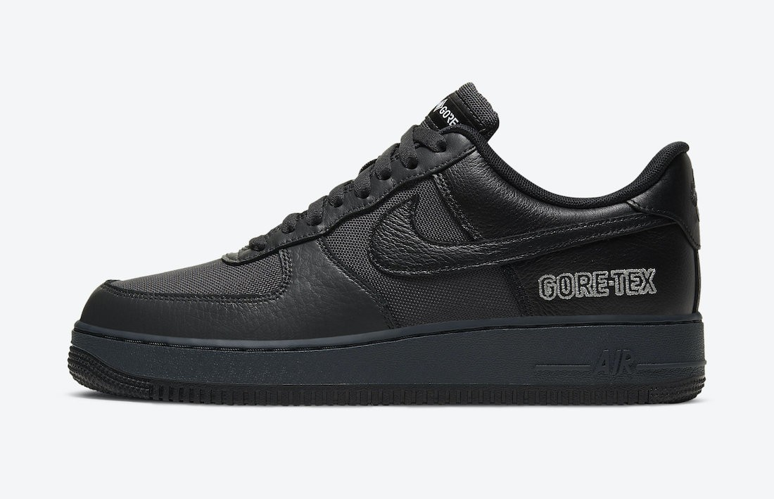 CT2858-001 Nike Air Force 1 Gore-Tex Heren - Anthracite/Zwart-Grijs