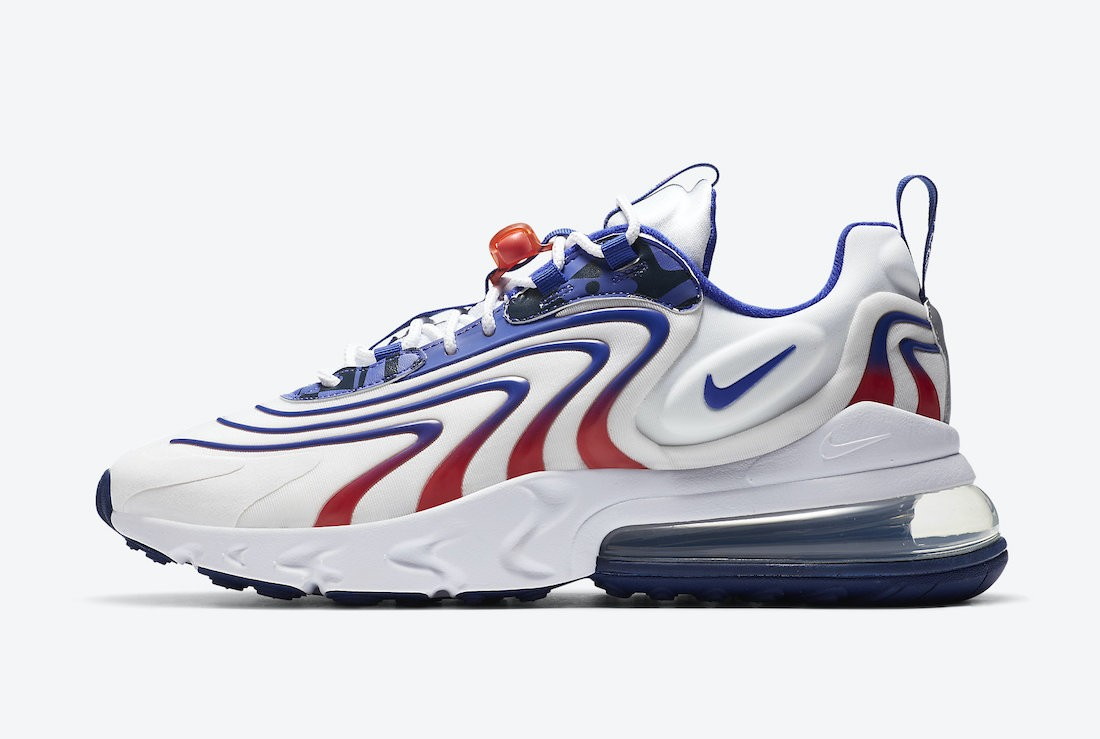 "DA1512-100 Nike Air Max 270 React ENG ""USA"" Heren - Wit/Rood-Blauw"