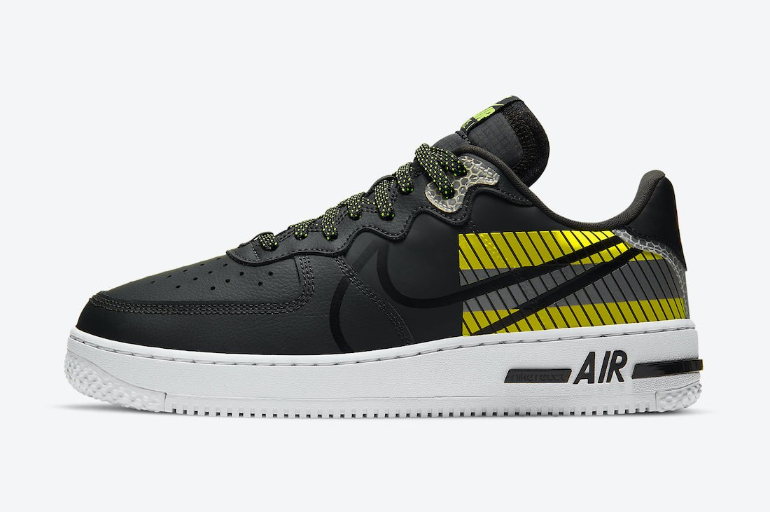CT3316-003 3M x Nike Air Force 1 React D/MS/X Heren - Anthracite/Zwart-Volt-Rood