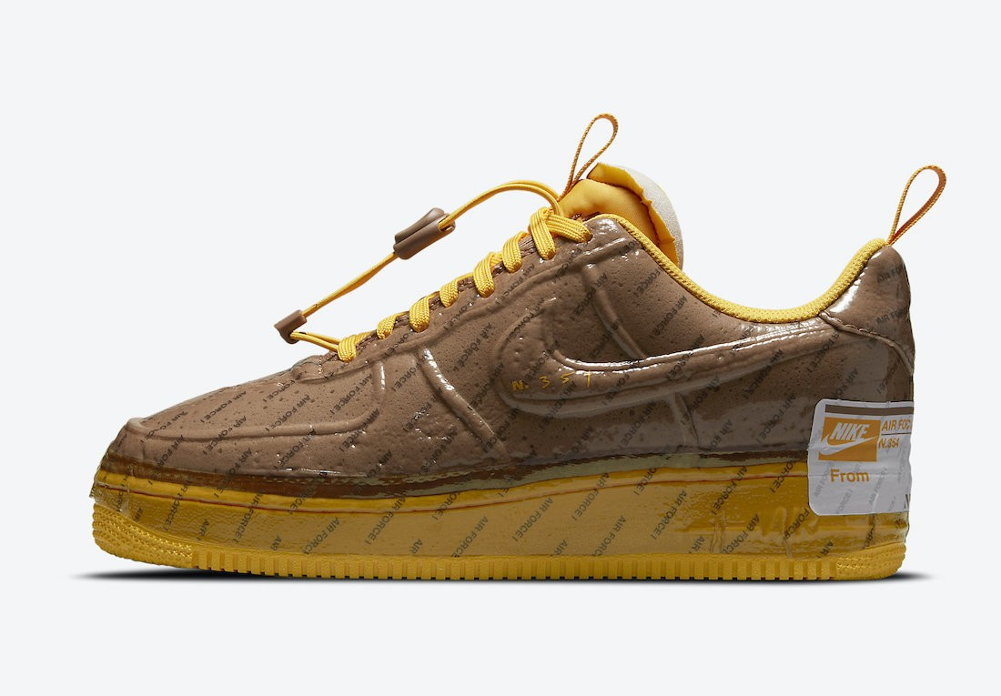 CZ1528-200 Nike Air Force 1 Low Experimental - Bruin/Goud-Wit