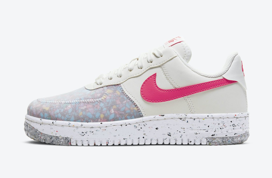 CT1986-101 Nike Dames Air Force 1 Crater - Wit/Rood