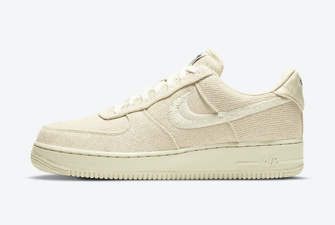 CZ9084-200 Stussy x Nike Air Force 1 Low - Fossil Stone/Fossil Stone
