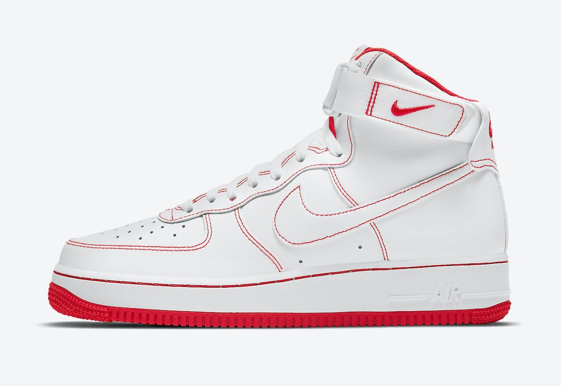 CV1753-100 Nike Air Force 1 High Schoenen - Wit/Rood