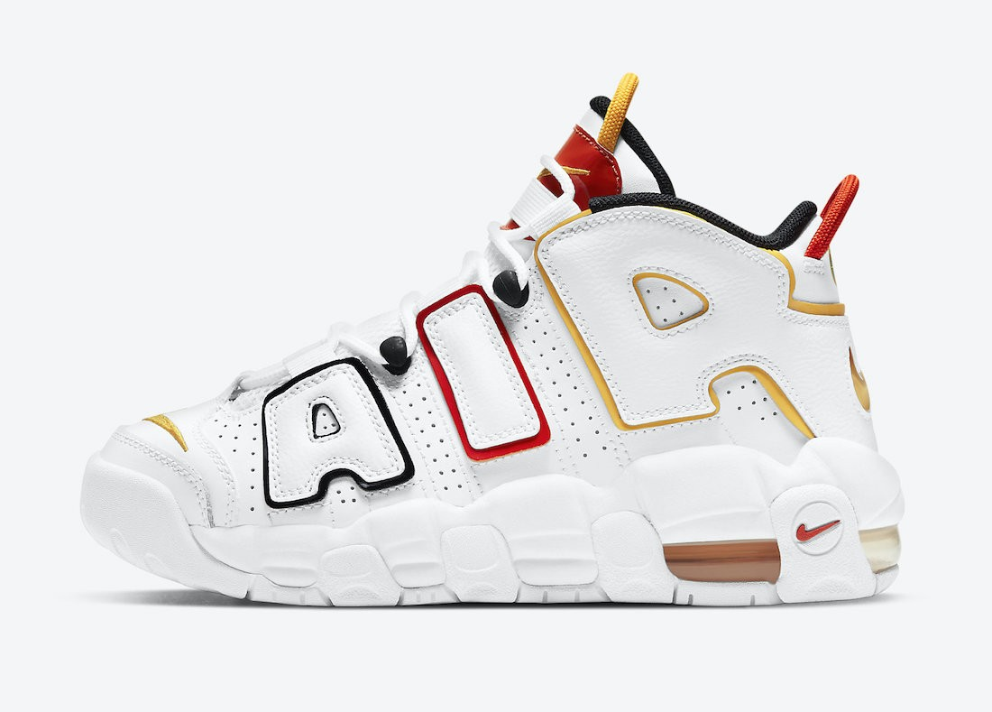 """DD9282-100 Nike Air More Uptempo GS """"Raygun"""" - Wit/Zwart-Rood"""